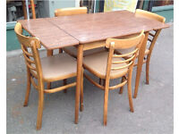 Draw Leaf Dining Table With Four Chairs