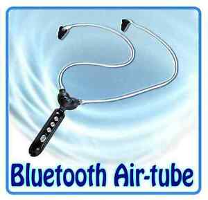 smart safe bluetooth radiation free air tube headphones echotubez headset phone ebay. Black Bedroom Furniture Sets. Home Design Ideas