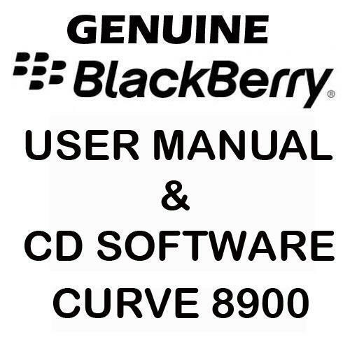 Original Original Blackberry Curve 8900 Manual de usuario