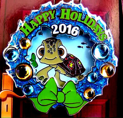 Disney Pins 2016 Squirt Rare Limited Edition LE Pin+2017 WDW Parks Map