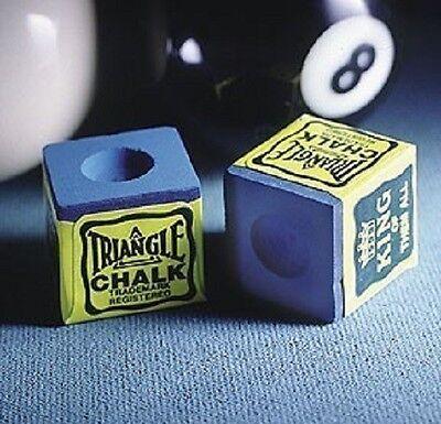 Triangle Pool Cue Billiards Chalk Blue Box of 12
