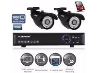 4 CH CCTV DVR SYSTEM WITH TWO CAMERAS, 1TB HARD DRIVE