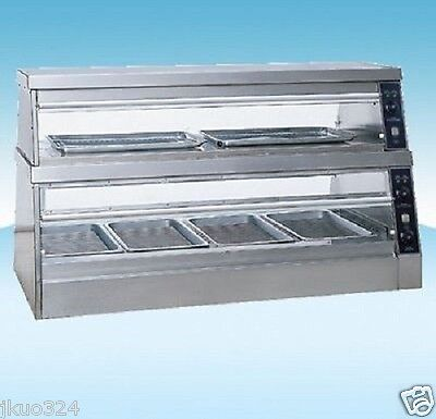Heated Glass Food Display Warmer Cabinet Case 60 Or 5 Ft Stainless Steel