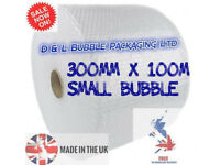 Small Bubble Wrap 300mm x 100m x 1 Roll