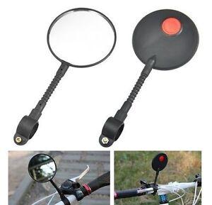 Universal Bicycle Bike Handlebar Rear View Mirror Driving Road Vision Safety