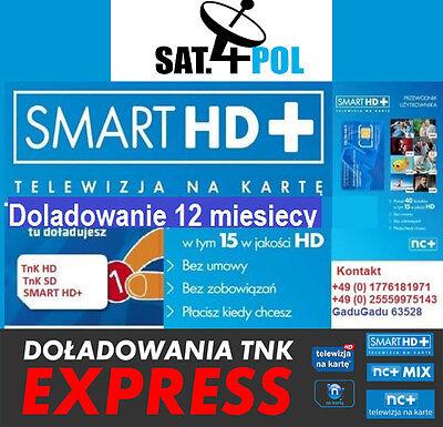 nC+ TnK Telewizja Na Karte NC+ SMART HD + doładowanie Aufladung 12 monate m -cy