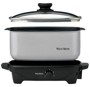 NEW-Electric-Slow-Cooker-Oven-Lid-Base-Adjustable-Temperature-5-Quart-Capacity