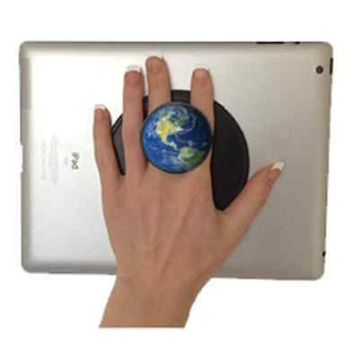 G-Hold Micro Suction Reusable Handhold for Tablets, eReaders, etc (Earth)