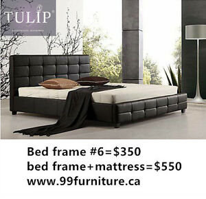 █♣█GET IT TODAY~LEATHER BED IN WHITE OR BLACK~TULIP BRAND NEW