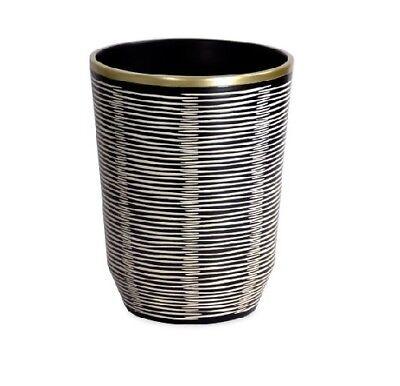 Better Homes & Gardens Tribal Chic Black Waste Basket (Garden Wastebasket)