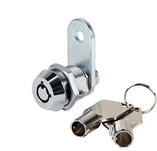 "FJM Security 2400AS-KA Tubular Cam Lock with 5/8"" Cylinder and Chrome Finish,"