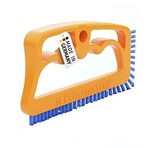 Fuginator Scrub Brush for Tile and Grout: Stiff Nylon Bristle Scrubbing Brush -