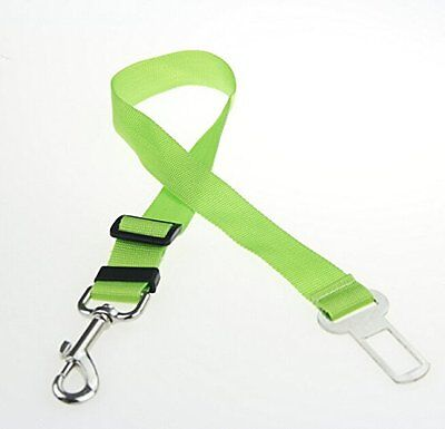 2x Green Dog Pet Puppy Safety Seatbelt for Car Vehicle Seat Belt Harness Lead
