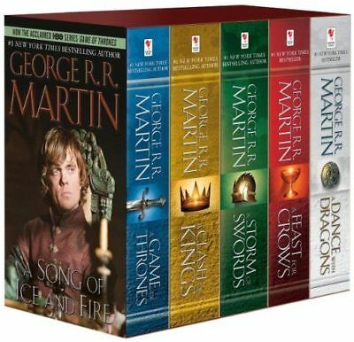 A Game Of Thrones By George Rr Martin Mass Market Paperback Boxed Set Books 1 5