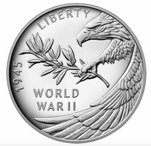 Silver End of World War II 75th Anniversary Silver Medal IN HAND SHIP TODAY 20XH