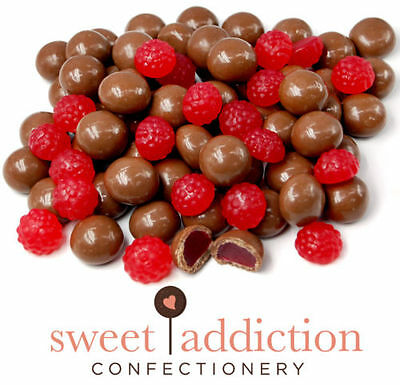 8kg Premium Milk Chocolate Covered Red Raspberries - Bulk Lolly Candy - Chocolate Candy Buffet