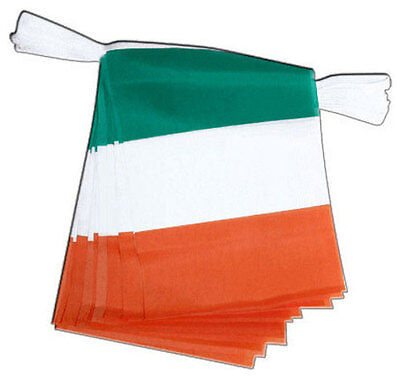 33ft Rep Of Ireland Irish Flag Fabric Bunting Rugby 6 World Cup ST Patrick's - Irish Flag Bunting