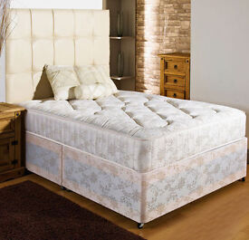 BRAND NEW 4ft6 Double/Small Double Divan Bed With Luxury Crown Orthopedic 11.5'' ExtraFirm Mattress