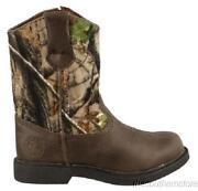 Boys Camo Boots