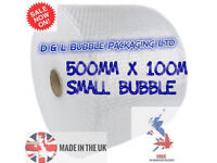 Small Bubble 500mm x 100m x 1 Roll Cushioning Wrap Quality Bubble