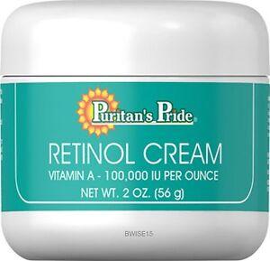 Retinol Cream (Vitamin A 100,000 IU Per Ounce)