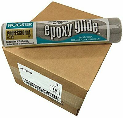 Wooster Cover Roller (Wooster Brush R232-9 Epoxy Glide Roller Cover, 1/4-Inch Nap, Pack of 12 )