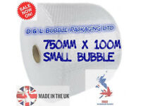 Small Bubble 750mm x 100m x 1 Roll Cushioning Bubble Quality Packaging