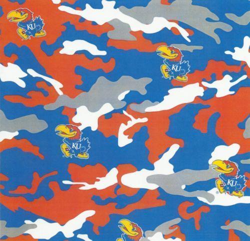 Kansas Jayhawks Fabric Ebay
