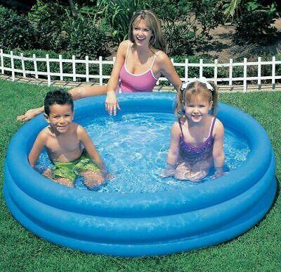 Intex Inflatable Swimming Paddling Pool 3 Ring Family Play Pool Baby Kids UK