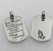 Serenity Prayer Necklace