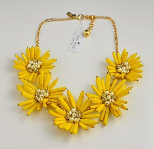 Kate spade flower necklace ebay mightylinksfo Choice Image
