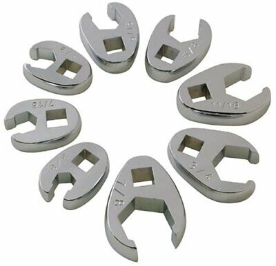 Sunex 9708 3/8-Inch Drive Fractional Crowfoot Flare Nut Wrench Set, 3/8-Inch - 7 ()