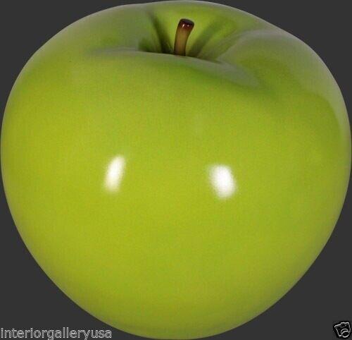 Apple Sculpture - Apple Figurine - Apple Decor - Green Apple Medium Statue