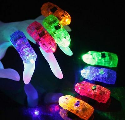 120 PCS WHOLESALE CAR FINGER LIGHT UP RING LASER LED RAVE PARTY FAVOR GLOW - Led Rings Wholesale