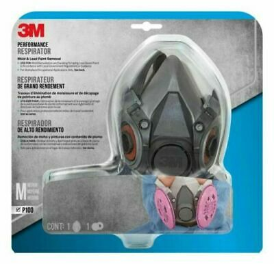 New 3m Performance 6200 6297 Half Face Respirator Medium With 2097 Filters