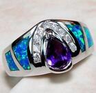 Sterling Silver Gemstone Rings Size 7