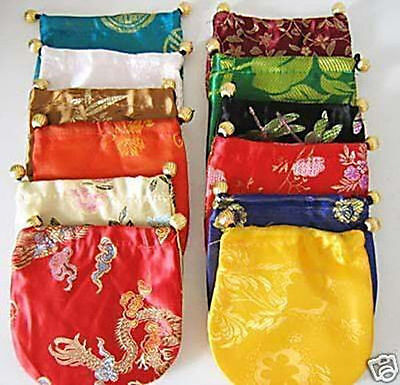 Wholesale  10 pcs Handmade Multi-Color Silk Bag/Purse Silk Gift Bags jewelry Bag