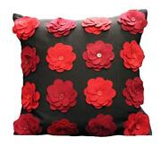 Red and Black Cushion Covers