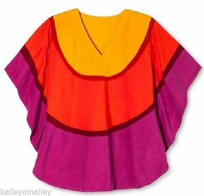 - Womens Marimekko Beach/Pool Terry Cloth Cover Up S/M  Yellow,Orange,Magenta NEW