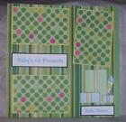 Premade Baby Boy Scrapbook Pages