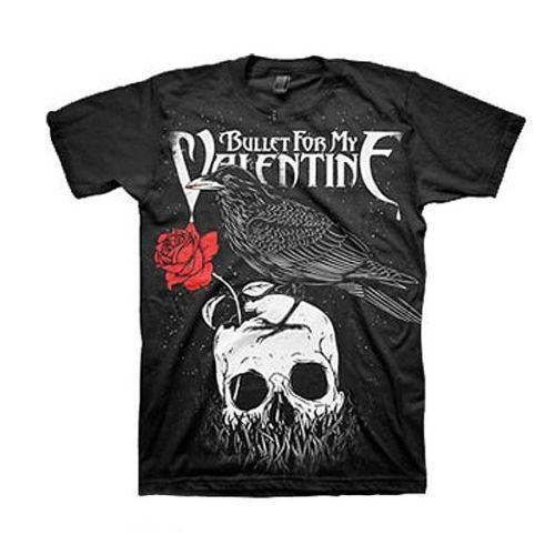 BULLET FOR MY VALENTINE T-Shirt Raven New Authentic Rock Metal Tee S M L XL XXL