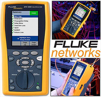 Fluke Dtx-1200 Cable Analyzer W Smart Remote Version 2.7700 Calibration 2015