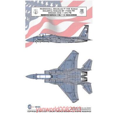 GALAXY 1/48 1/72 G48009 G72010 F-15C Eagles 173RD FW Oregon ANG 114TH FS Decal