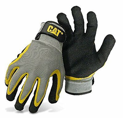 Cat Cat017415l Double Coated Textured Latex Palm With Black And Yellow Fingers W