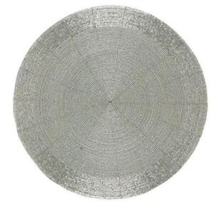 Silver Round Placemats