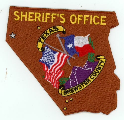BREWSTER COUNTY SHERIFF TEXAS TX NICE COLORFUL COUNTY SHAPED PATCH