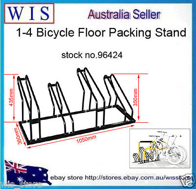 1-4 Bike Floor Parking Park Organize Holder Rack Storage Stand Bicycle Cycling ()