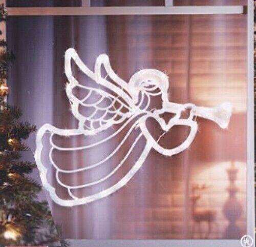 Trumpet Christmas Lighted Angel Gabriel Window Bright Light