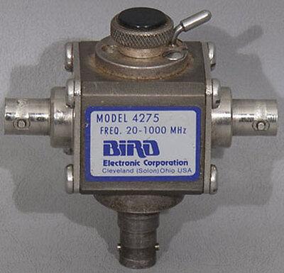 Bird 4275 Thruline Rf Variable Signal Sampler 20-1000 Mhz Wbnc