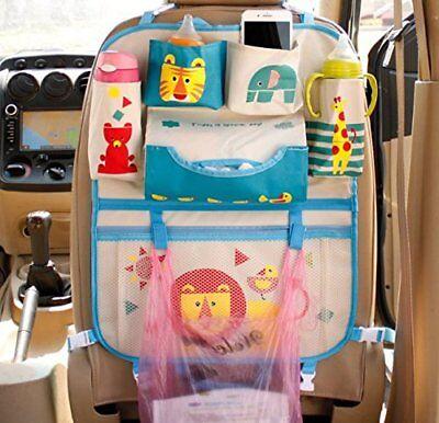 Car Backseat Organizer Kick Mats kids blue new